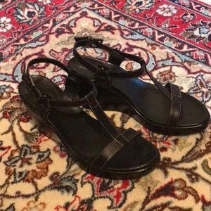 Aerosoles platform wedge leather sandals size 7.5